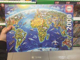 puzzle 2000 piezas mapa del mundo