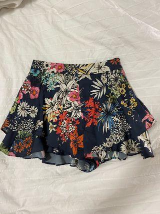Falda pantalon Zara flores