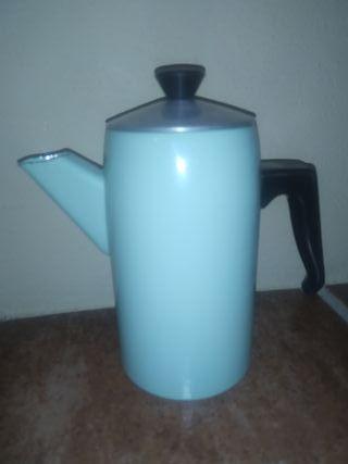 Cafetera porcelana esmaltada antigua