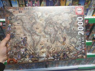 puzzle 2000 piezas EDUCA mapa del mundo