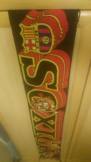 bufanda de ultras del barcelona f.c (boixos nois)