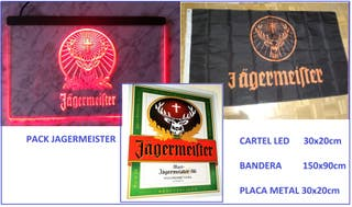 Pack 3x1 Jager (Cuadro led + bandera + placa)
