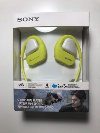 Auriculares acuáticos MP3 SONY. 4GB. Nuevos.