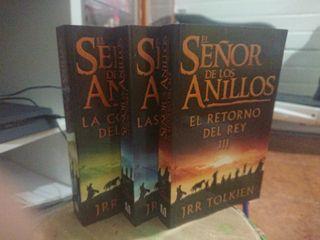 3 libros El señor de los anillos
