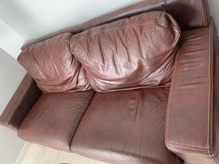 Sofa Piel nuevo sin usar marrón