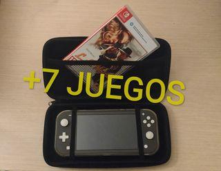 Nintendo Switch Lite + 7/8 juegos y accesorios
