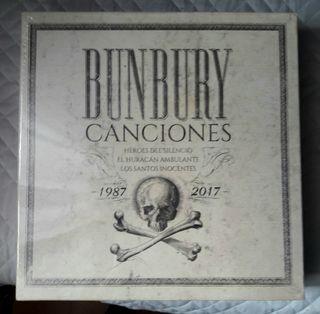 Bunbury Canciones 87/17 Caja con 4vinilos, cds..