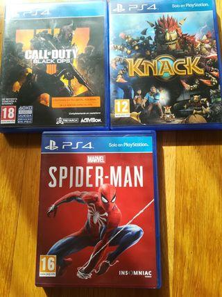 pack 3 videojuegos ps4