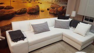 Sofá chaise longue, con cama y almacenaje