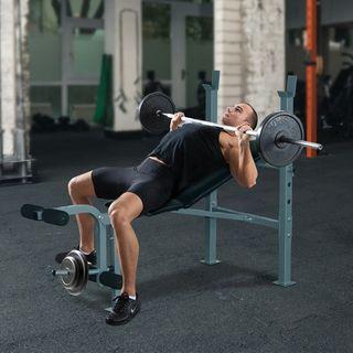Banco de Pesas y Abdominales Ajustable para Fitnes