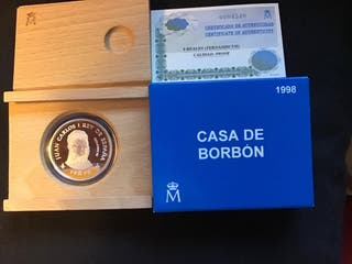 Moneda Casa de Borbón Plata de Ley