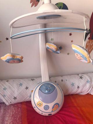 Carrusel de cuna Chicco con proyector led