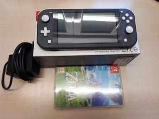 Nintendo switch lite (gris) + zelda