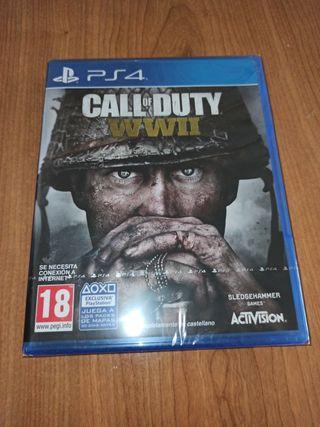 juego para PS4 call of duty wwII nuevo