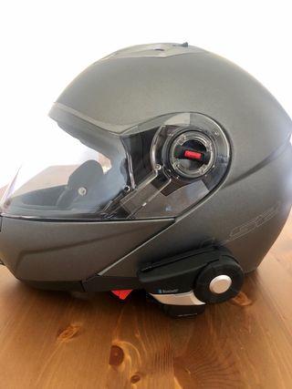Casco LS2 con comunicador SENA (XL) y guantes BMW