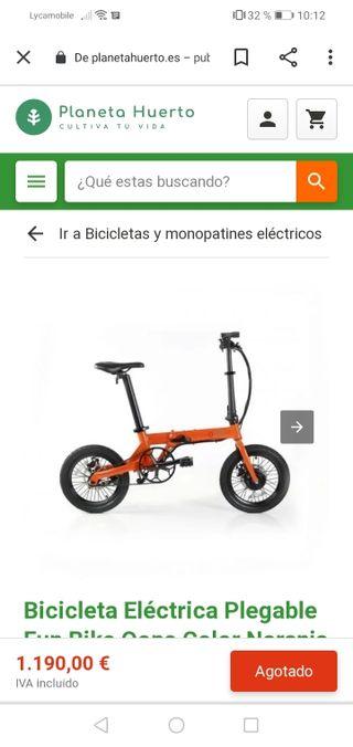 Se vende bici plegable electrica opps oferta