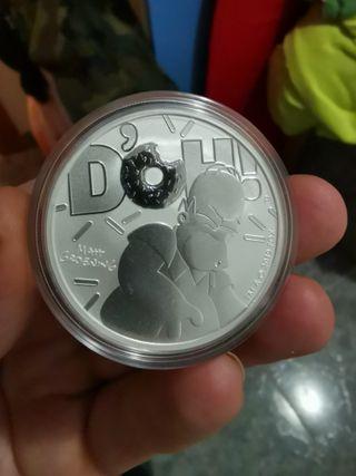 Moneda plata Homer Simpson tuvalu
