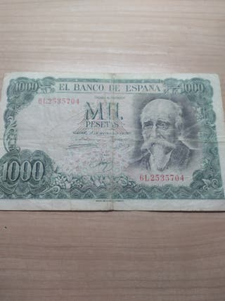 Billete 1000 pesetas Etxegarai
