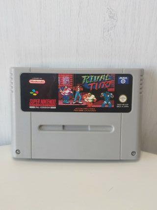 juego rival turf jaleco de consola super Nintendo