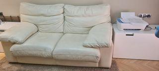 sofa piel blanco