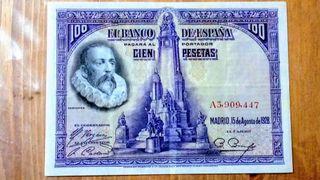 Billete de 100 pesetas 1928 serie A