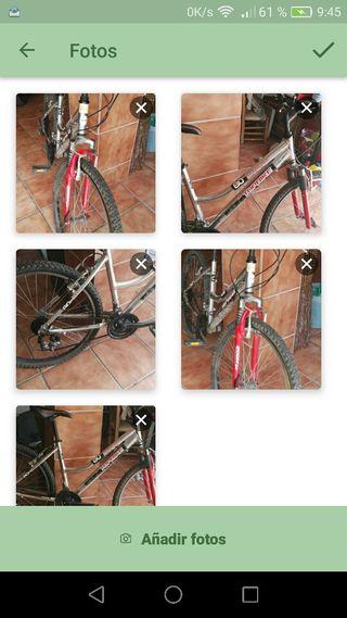 bicicleta aluminio montaña suspensión