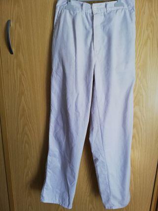 pantalon de trabajo blanco