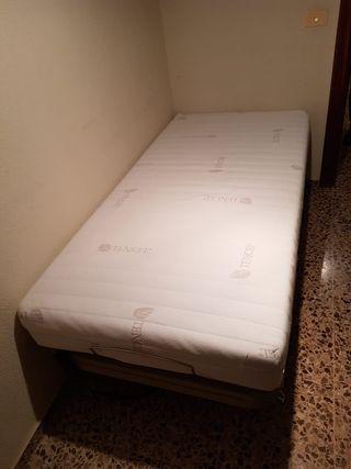 Cama eléctrica con colchón