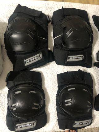 Casco + kit de protección Adulto L Patines