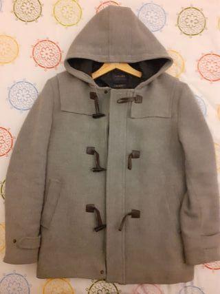Abrigo paño hombre gris Zara talla L