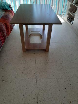 mesa camilla de madera