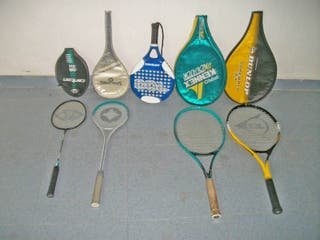 Conjunto de raquetas en perfecto estado.