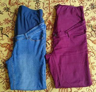 2 pantalones premamá