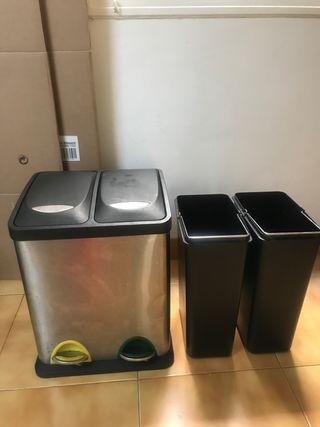 Cubo para reciclar basura de acero