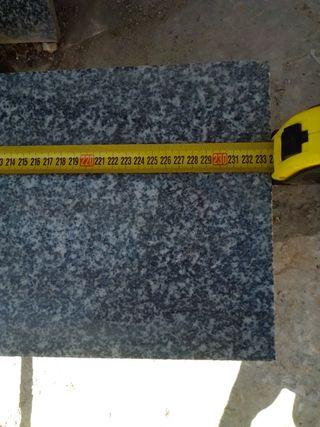 7 placas de granito negro y blanco