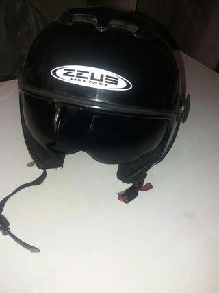 casco Zeus helmet con gafas