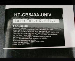 cartucho tóner para impresora HT-CB540A-UNIV