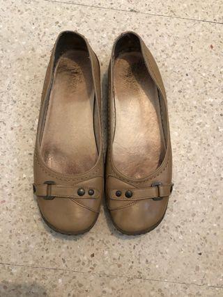 Zapato verano mujer beig