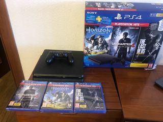 PS4 1TB+ 3 juegos + mando