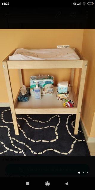 mesa cambiador bébé