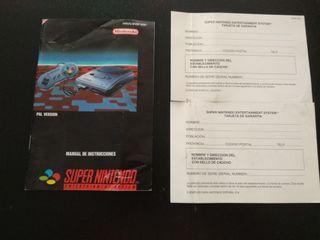 Manual Super Nintendo en castellano
