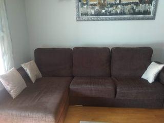 Sofa 2 plazas + chaiselonge