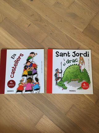 Lote 2 libros letra ligada. Primeros lectores