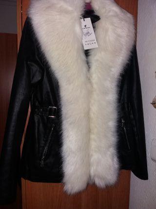 chaqueta de mujer polipiel