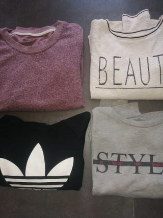 Pack 4 sudaderas talla S mujer :Adidas, Reebok...