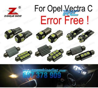 KIT COMPLETO DE 12 BOMBILLAS LED PAR OPEL VECTRA C