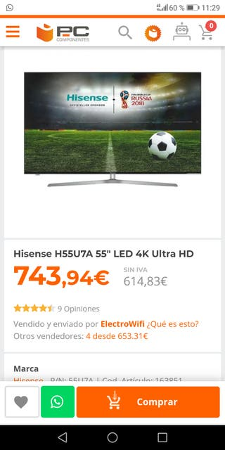 TV 55 television Hisense
