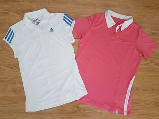 2 polos Nike y Adidas