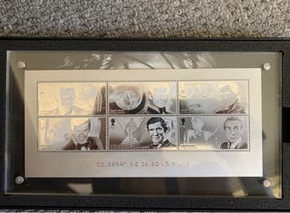 007 James Bond 1st cover silver proof stamps