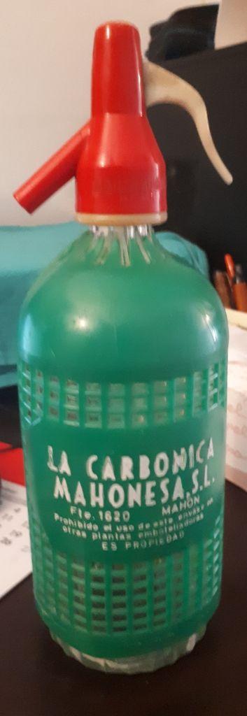 Botella de sifón antigua